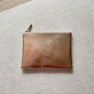 BareMinerals | Gold Faux Leather Pouch